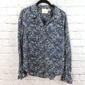 Maeve Anthropologie Petrin Button Down Blouse